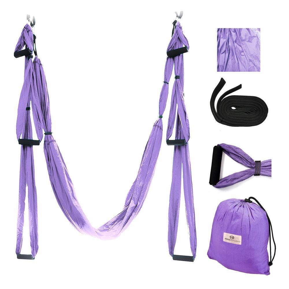 Aerial Yoga Hammock Swing Set, light purple