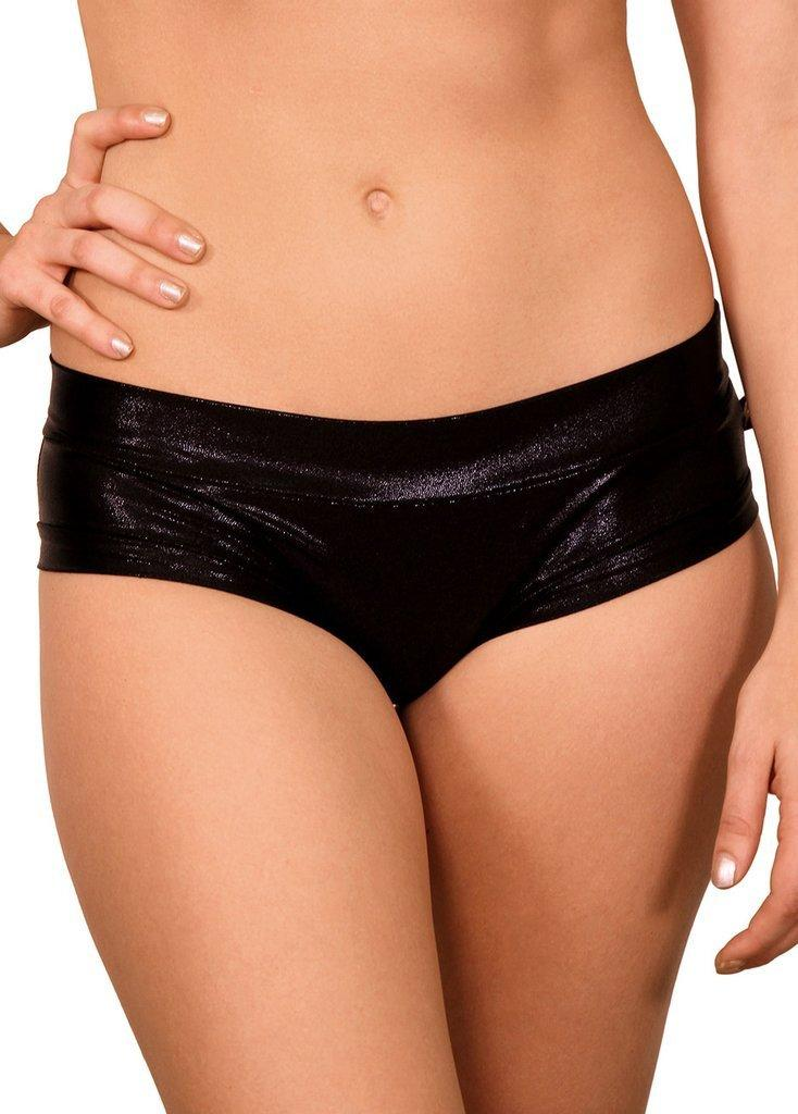 Metallic Hot Pants black