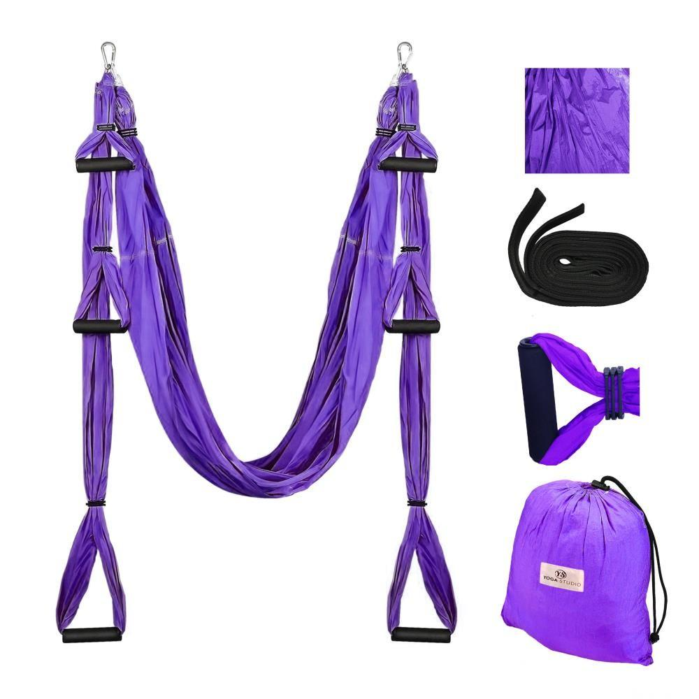 Aerial Yoga Hammock Swing Set, purple