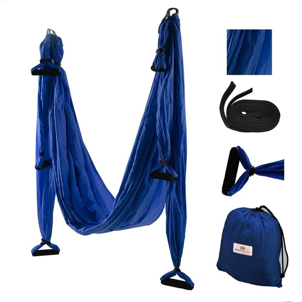 Aerial Yoga Hammock Swing Set, navy blue