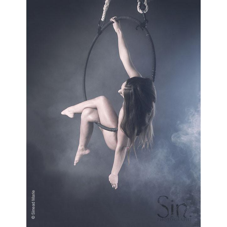 2 Point Aerial Hoop - pearl black