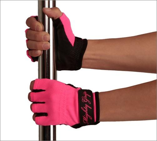 Mighty Grip Gloves, hot pink with tack