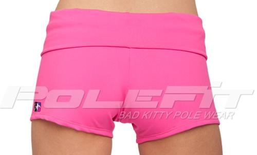 Fold Over Shorts hotpink