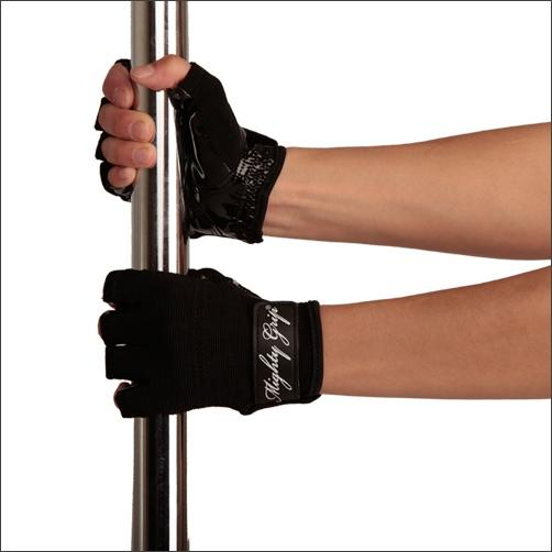 Mighty Grip Gloves, black with tack