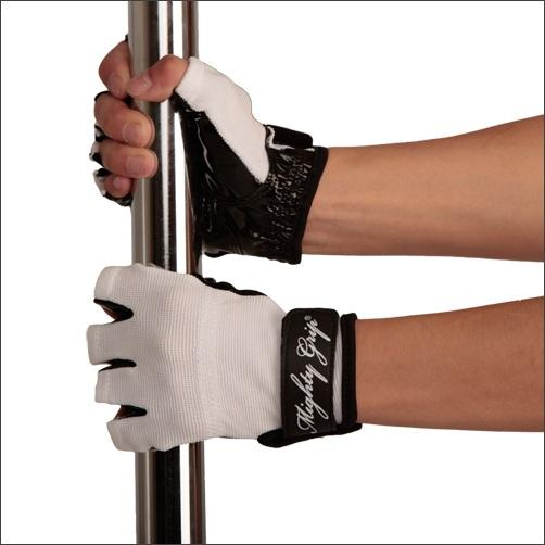 Mighty Grip Gloves, white with tack