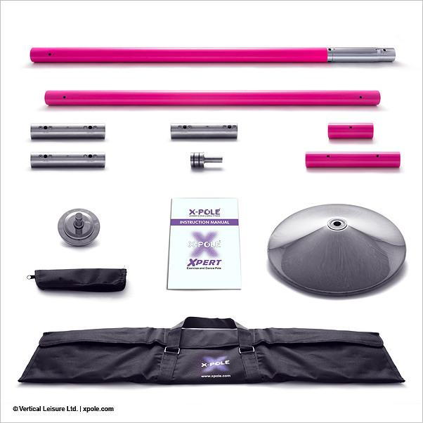 X-Pole Xpert 40mm Set, Powder Coated Pink