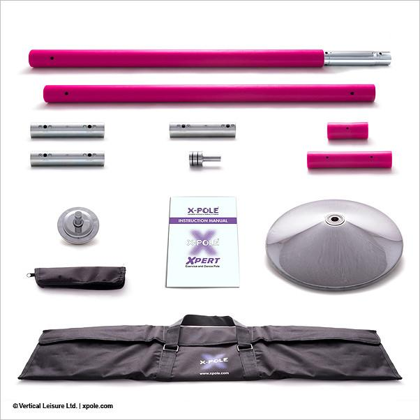 X-Pole Xpert 45mm Set, Silicone Pink