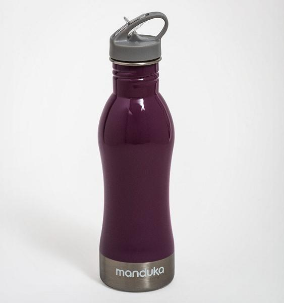 Stainless Steel Water Bottle - Smokey Quartz, Purple