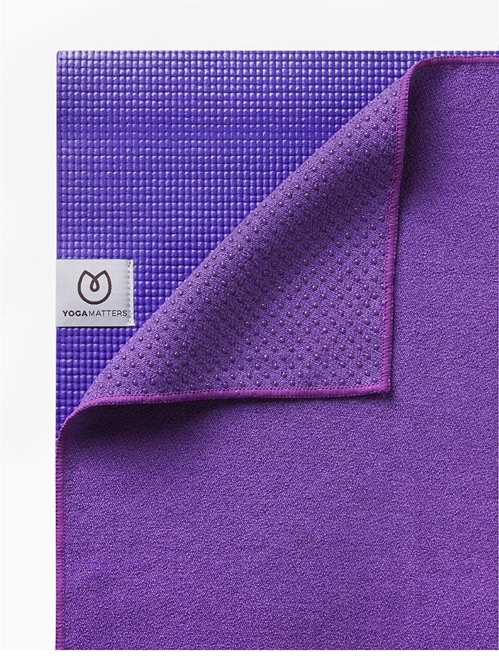 The Grippy Yoga Mat Towel purple